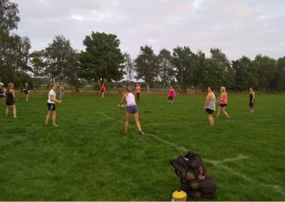 Ladies Rugby Warm Up