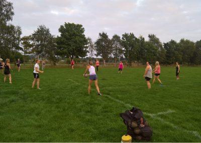 Ladies Rugby Warm Up