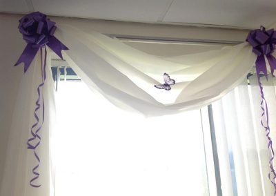 Purple Wedding Curtains