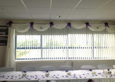Purple Wedding Top Table