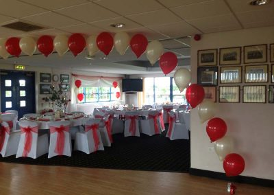 Red Wedding Balloon Arch