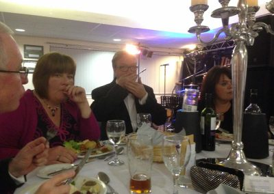 Wedding Guests Enjoying Dinner
