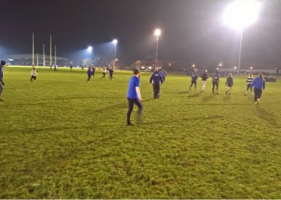Playing Touch Rugby Floodlit