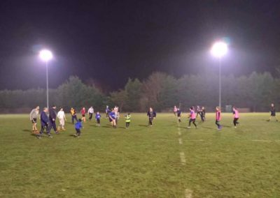 Playing Touch Rugby Evening